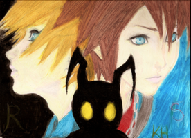 More Kingdom Hearts fan art xD by VangelDissonance