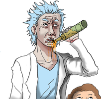 Rick and morty by tonyfony