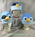 Blue pirate penguin hats by The-Cute-Storm