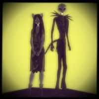 Jack and Sally Feline by sadsiren