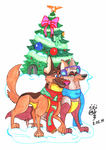 ChaRil Christmas by LizLightningGSD
