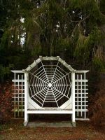 Spider web bench 1 by JensStockCollection
