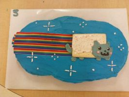 Nyan Cat cake~ by LeanToThee