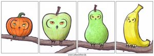 Fruity Owls by ankewehner