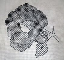 Blackwork Rose by liquidblueeyes