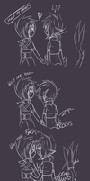 Ray tries holding hands again. by NotDamien
