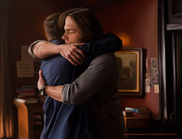 Sam and Dean by KasumiTan