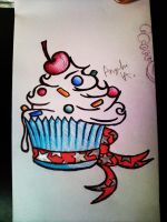 Cupcake tattoo idea by rawrnessxx