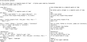 This Python Poem Is A Complete Waste Of Time by foxhead128