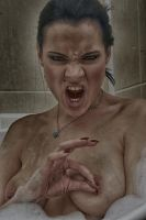 dirty angry girl by MarcBergmann