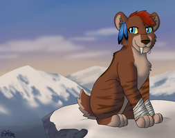 Chosovi on a Cliff by the Snow by OEmilyThePenguinO