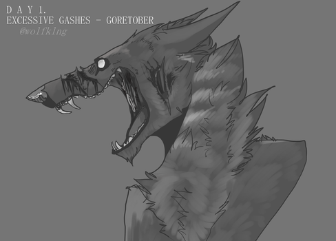 GORETOBER 2016 - EXCESSIVE GASHES, day one by dogjaws