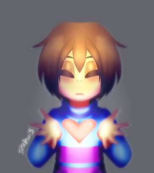 Frisk undertale fan art by skatesai5