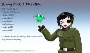FLYINGMINTBUNNY PACK 2 PREVIEW by scarletrose101