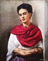 Portrait of Frida by paulnery