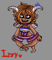Izzy:The Snickers Chocodemon by Ask-Symphony-Kingdom