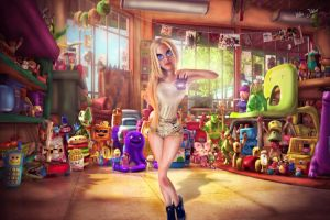 Taise Cascaes Pixar and david hill effect by junnioor