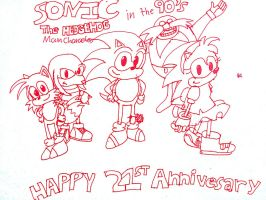 Happy Sonic 21st Anniversary Part 1 by kenyon369