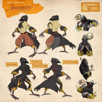 Reference Sheet Commission - Nevermore by elranno