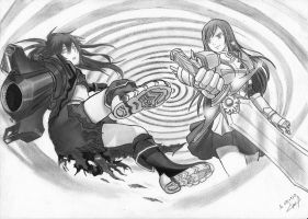 BRS vs ERZA new draw by SamAnimeMangaFR