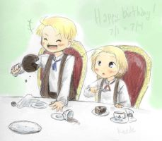 APH: happy birthday, NA bros by Kaede-chama