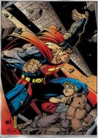 Superman saves the day by TiagoFox