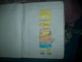 Bart Simpson en pose de rebelde by onlycartoons