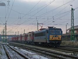 V63 138 with a special freight train in Gyor by morpheus880223