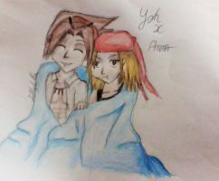 Yoh x Anna - Shaman King (Colour) by Lillylulla