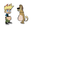 Fat Johnny Test And Dukey by Dramakin