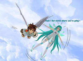 Angel Miku : but watch where you're going ! by JackFrost-LCDA