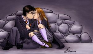 Harry and Ginny Kiss by Kanthara