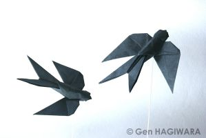Origami Swallow by GEN-H