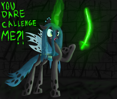 A Challenger Appears Before The Queen by mmadhu94