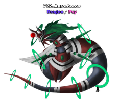 Legendary Fakemon ~ Aurorboros by Shails-Destroyer