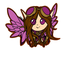Steampunk Fairy Chibi WIP by Roguelucifer
