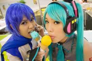 Blue X Green Vocaloids by ringo-031