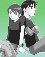 BEN10 Ben and Kevin by RokusukeTanaka