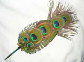 Magic of the Peacock - handmade Featherquill by Ganjamira