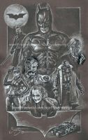 The Dark Knight underdrawing WIP by scotty309