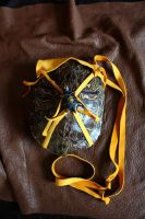 Turtle shell and deerskin pouch by lupagreenwolf