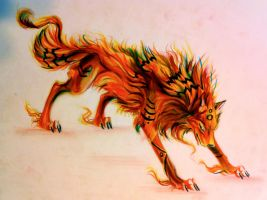 Fire Wolf by Lucky978