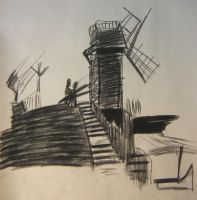 Windmill by EisenFeuer