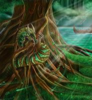 Nidhogg, The Dragon of Yggdrasil by CLB-Raveneye