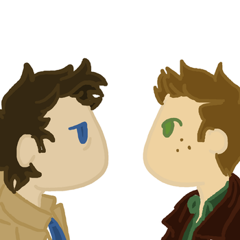 Destiel-kiss by DalekRangerintardis