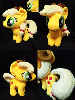 Mini Applejack Plushie For Sell! by astuyasiroh09