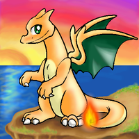 Charizard on a cliff xD by shinylugia