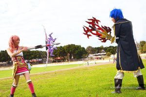 Serah and Jellal by Arlequinne