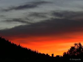The red and the black.. sunset by Jorapache