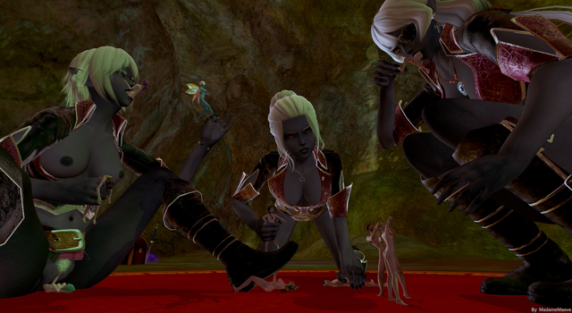 Drow Tea Party (4k image) by madamemaeve